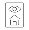home inspection thin line icon real estate vector image vector image