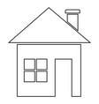 house icon black color vector image