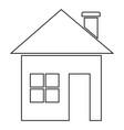 house icon black color vector image vector image