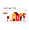 house insurance - colorful flat design style web vector image