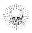 human skull over sacred geometry symbol demon vector image