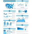 INFOGRAPHIC DEMOGRAPHICS OF STATES OF AMERICA BLUE vector image vector image