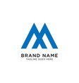 initial m logo design inspiration vector image vector image