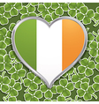 irish heart decoration vector image