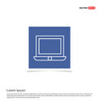 laptop icon - blue photo frame vector image vector image