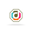Letter D construction logo vector image vector image