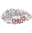 life of a child text background word cloud