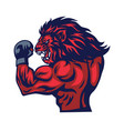 lion fighter mascot vector image