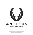 logo abstract deer antlers vector image vector image