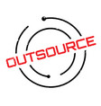 outsource rubber stamp vector image vector image