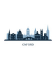 oxford skyline monochrome silhouette vector image vector image