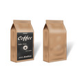 paper arabica coffee package design mock up empty vector image