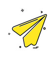paper plane icon design vector image