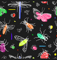 pattern insect black vector image