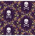 pattern skull halloween vector image vector image