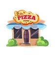 pizzeria restaurant vector image vector image