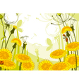 postcard with dandelions vector image vector image