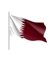 qatar national flag realistic vector image vector image