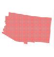 red dot map of arizona vector image