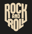 rock lettering poster or t-shirt design vector image vector image