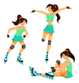 Roller blade vector image vector image