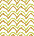 Rough brush brown and green chevron vector image vector image