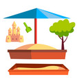 sandbox recreation activity child vector image vector image