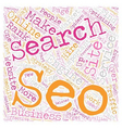 SEO Services And Why They Are Important text vector image vector image