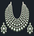 set monisto gold female necklaces vector image vector image