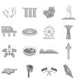 Singapore travel icons set monochrome style vector image vector image
