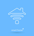 Smart home icon Element for cards poster and web vector image vector image