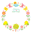 Spring Season Object Icons Wreath vector image vector image