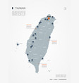 taiwan infographic map vector image vector image