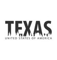 Texas usa united states of america text or