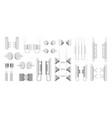 transmission cellular tower elements set vector image