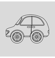 vehicle icon design vector image vector image