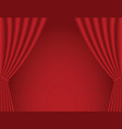 classical dark red theater curtain background vector image