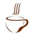 isolated coffee mug logo vector image