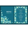 menu template design with geometric vector image