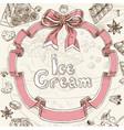 Ice cream sweet background vector image