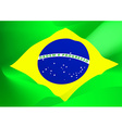Abstract Brazil flag in the wind vector image