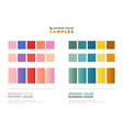 abstract color theme gradient samples for usage vector image