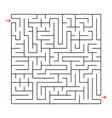 abstract square labyrinth with a black stroke an vector image