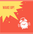 alarm clock concept banner flat design style vector image vector image