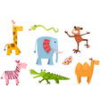 animal set vector image vector image