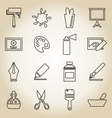 Art outline icon vector image vector image