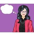 Asian woman pop art comic vector image vector image