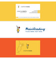 beautiful juice glass logo and business card vector image vector image