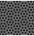 Black and white islamic pattern vector image vector image