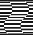 black and white stripes seamless wavy pattern vector image vector image